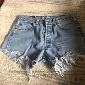 Vintage, high wasted cut off Jean shorts